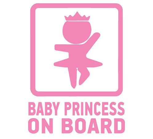 Sticker Baby Princess on Board