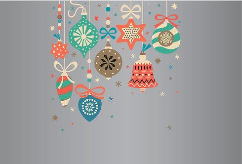 Χριστουγεννιάτικο Αυτοκόλλητο Βιτρίνας