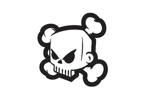 Sticker DC Skull Ken Block