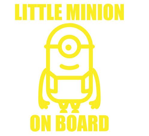 Sticker Little Minion on Board