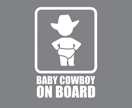 Sticker Baby Cowboy on Board
