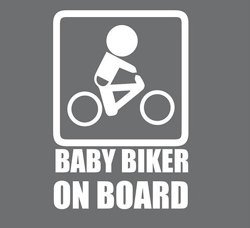 Sticker Baby Biker on Board