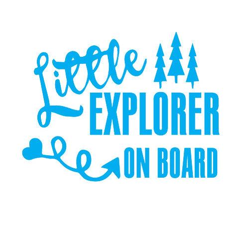 Sticker Little Explorer on Board