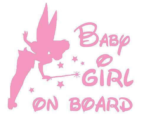 Sticker Baby Girl on Board