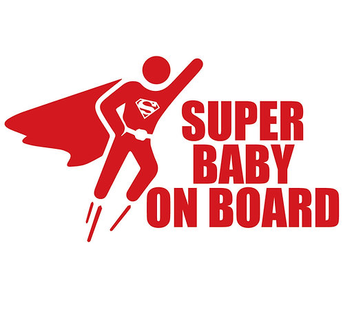 Sticker Super Baby on Board