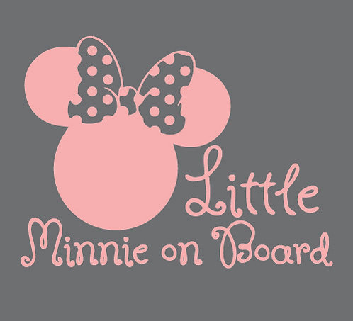 Sticker Little Minnie on Board