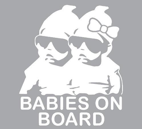 Sticker Babies on Board Twins