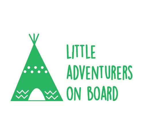 Sticker Little Adventurers on Board