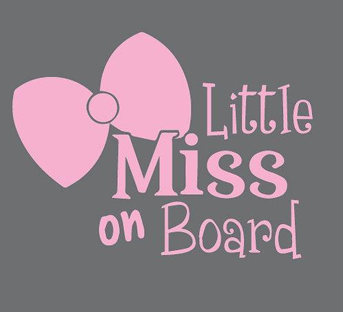 Sticker Little Miss on Board