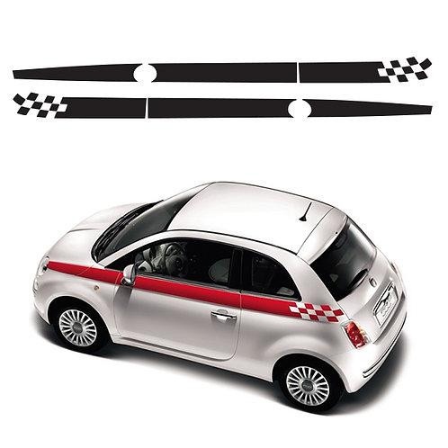 Fiat 500 Side Stripes