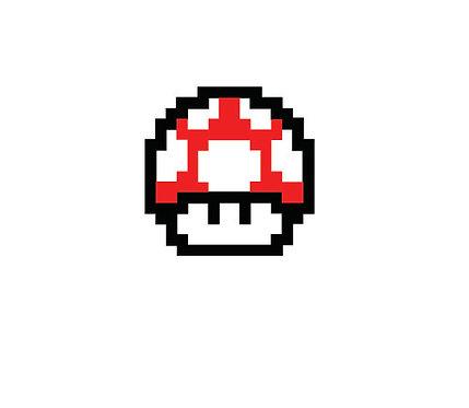 Sticker Super Mario Mushroom