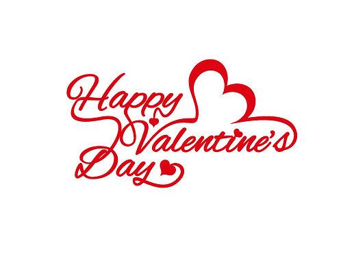 """Αυτοκόλλητo Βιτρίνας """"Happy Valentine's Day"""""""