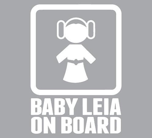 Sticker Baby Leia on Board