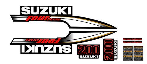 Suzuki 200 FourStroke Outboard Engine Decal Kit
