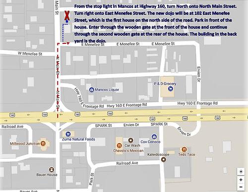 Map to HSJC dojo
