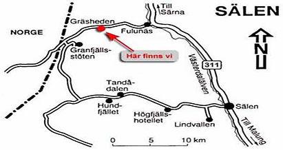 Karta till Gräsheden