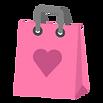 Corazón de color rosa bolsa de regalo