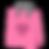 ピンクのハートギフトバッグ