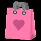 Rosa Herz-Geschenk-Tasche