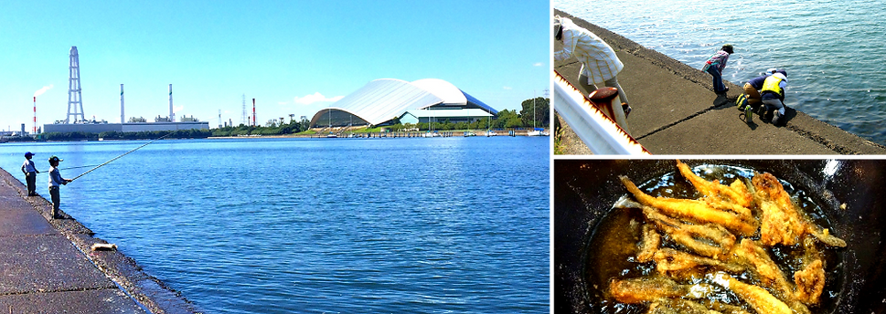 自然体験、魚釣り