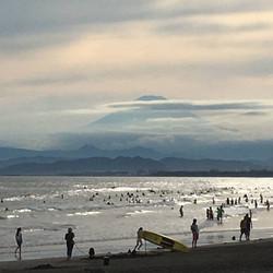 浮世絵のような富士山