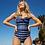 Navy twist front one piece swimsuit sea level australia