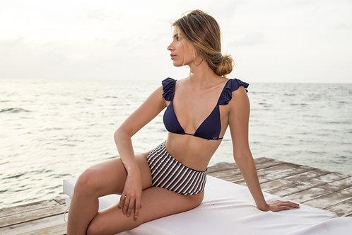 Maylana Eloise Navy Bikini Top