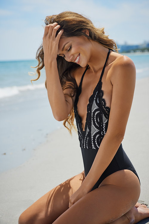 lace one piece swimsuit