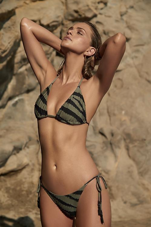 tie side bikini bottoms animal print pilyq tigerlily embroidered
