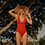 ruffle red one piece bathing suit sea level australia