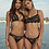 Black Halter Bikini top pq swim