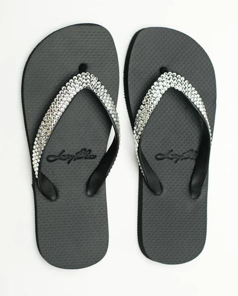 Swarovski Crystal Sandals Divine Black