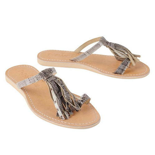 L Space Leather Fringe Sandal