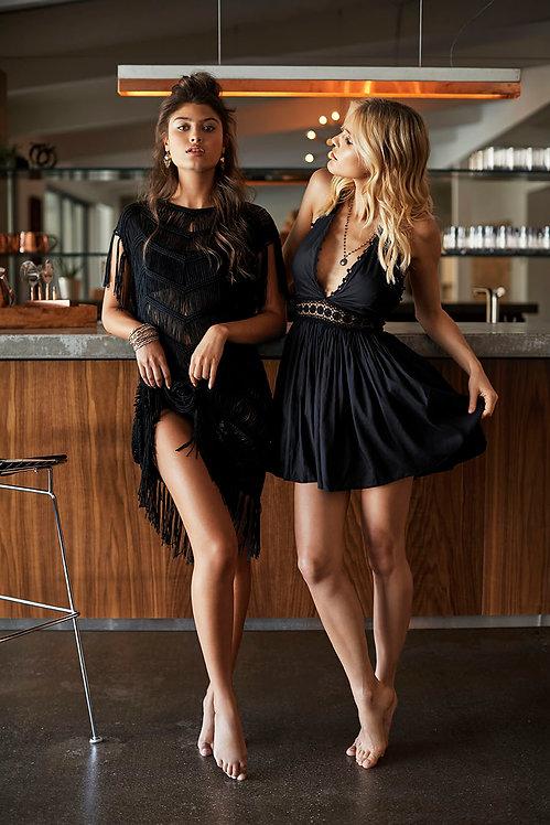 Black celeste halter dress PilyQ