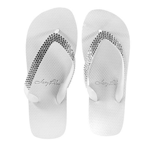 Lucy Blue Divine White Sandals