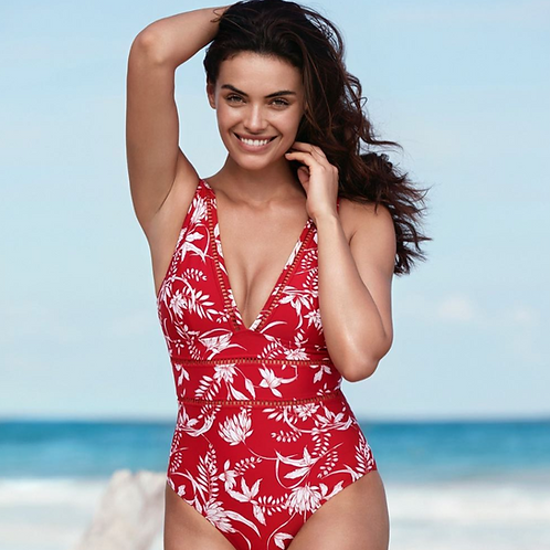 sea level australia | spliced one piece swimsuit maui paprika