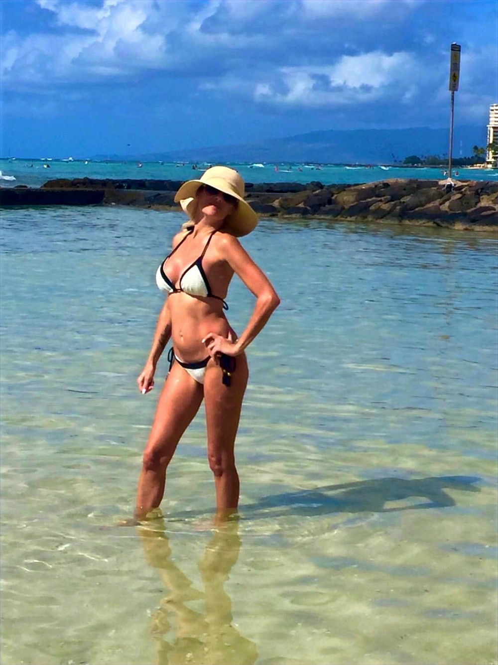 woman from vancouver canada on vacation wearing her pilyq bikini from sun vixen swimwear online