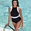 Valentina Black High Neck One Piece swimsuit Sea Level Australia multifit