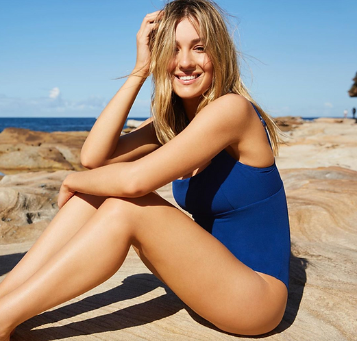 blue One Piece Swimsuit sea level australia