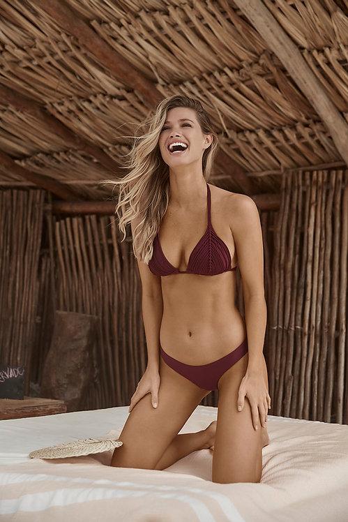 vino burgundy bikini top