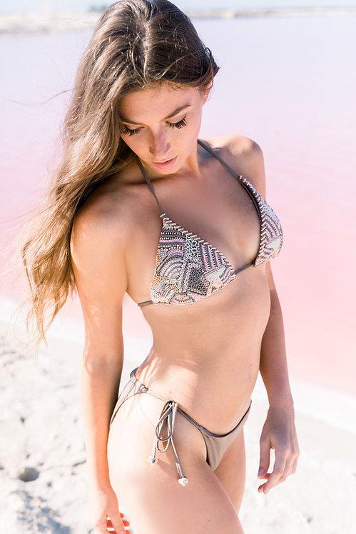 beaded bikini top agua bendita