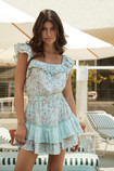CATE RUFFLE mini DRESS PILYQ posies