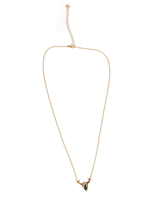 Grab the Bull Gold Pendant Necklace