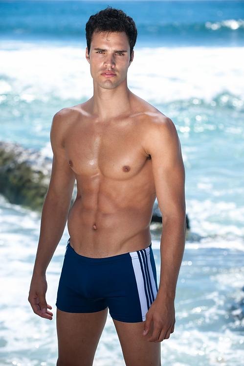 mens short swim trunks navy sauvage freestyle squarecut