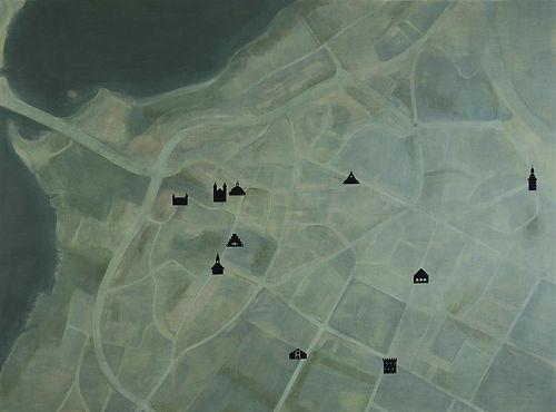 """Mapping×Searching"" by Takehiro Mizumoto at Viborg Kunsthal Riddergade AIR, Viborg, Denmark 2015"