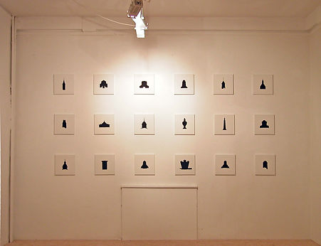 """""""Collected monuments"""" by Takehiro Mizumoto at Künstlerhäuser Worpswede, Germany 2005"""