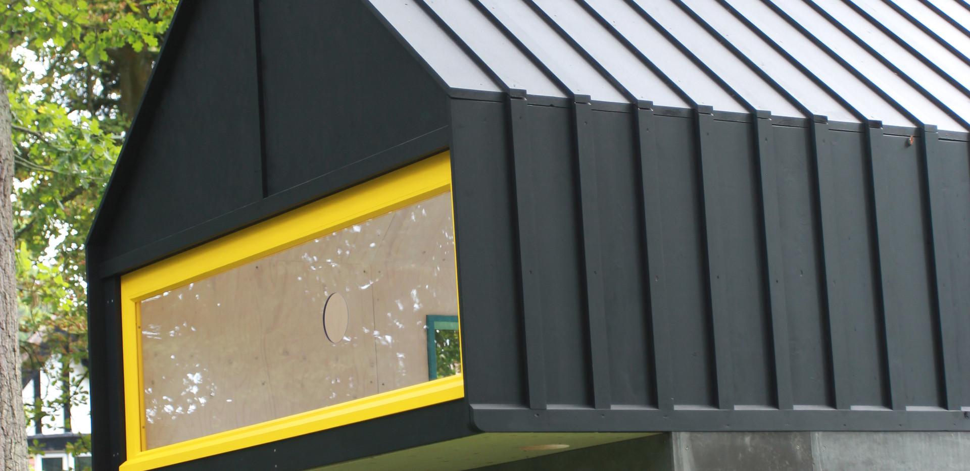 Overhanging window detail