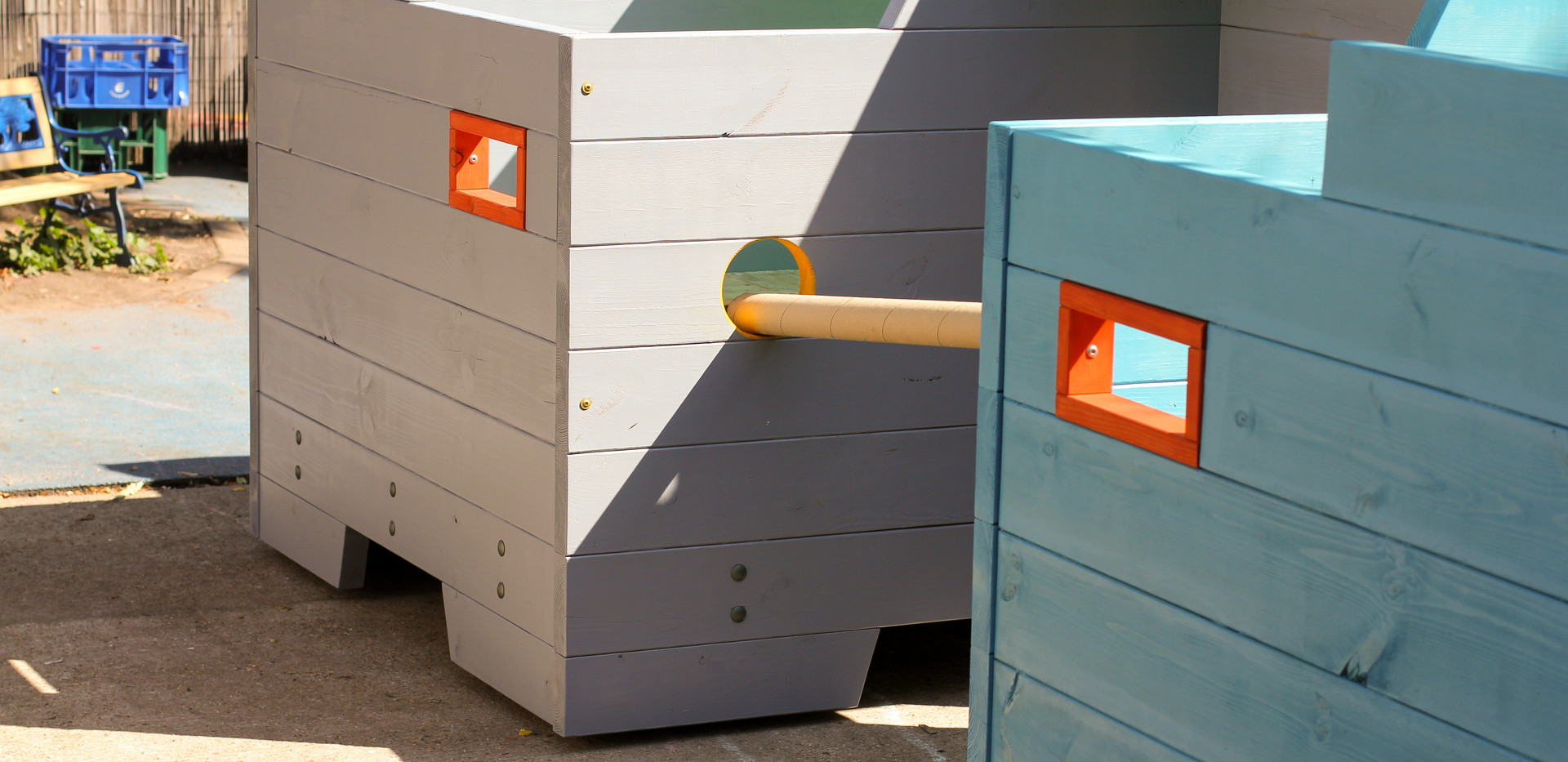 Moveable play pods - Randal Cremer Primary School