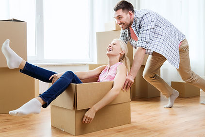 home, people, moving and real estate con