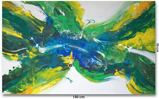 pintura abstrata 150 cm X 95 cm - Em Tela